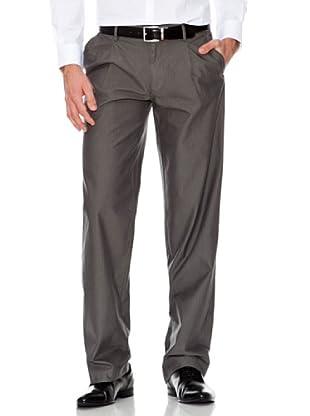 Dockers Pantalón Comfort con Pinzas Tejido Espiga (gris marengo)