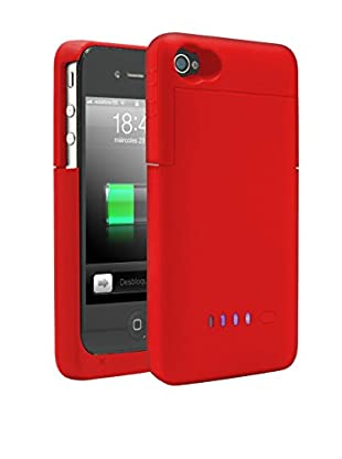 Unotec Bateria Funda Para Iphone4/4S Roja