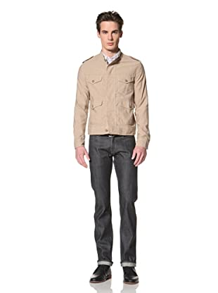 Onassis Men's Orville Four Pocket Jacket with Epaulets (Khaki)