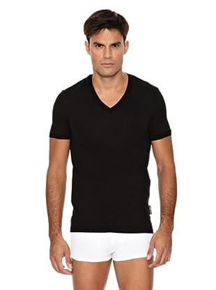D&G Camiseta Pico Negro L (IT IV) (Negro)