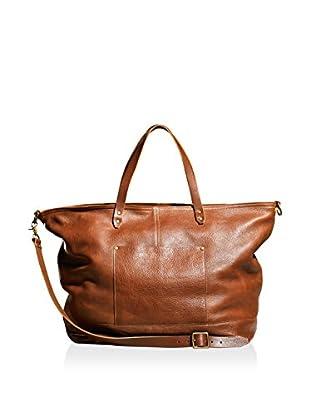 TM1985  Allen Leather Duffle, Cognac