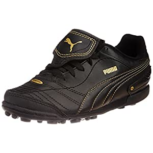 Puma Unisex Esito Finale TT Jr Black, Black and Team Gold Sneakers - 1.5C UK