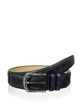 Mezlan Men's Ostrich Belt (Blue)