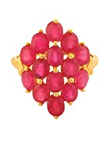 Ruby 6.70 Carat Genuine Gemstone Ring In 10kt Yellow Gold Jewelry