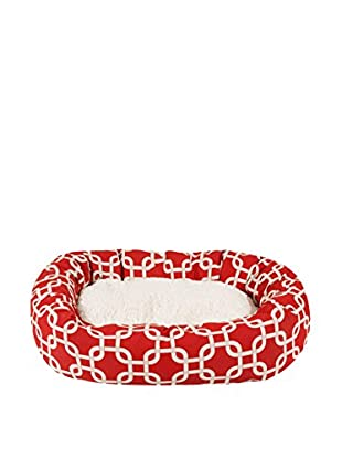 Majestic Pet Sherpa Bagel Bed (Red Links)