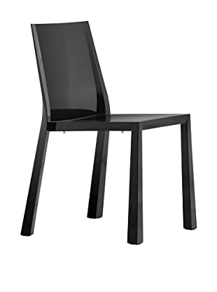 Zuo Set of 4 Popsicle Stacking Outdoor Dining Chairs (Black)