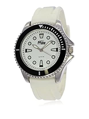 Pit Lane Uhr mit Miyota Uhrwerk Pl-3003-4 weiß 40 mm