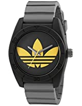 Adidas Adh3030 Santiago Black Stainless Steel Watch With Textured Band - Adh3030