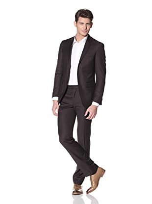 Kenneth Cole New York Men's Solid Suit (Dark Brown)
