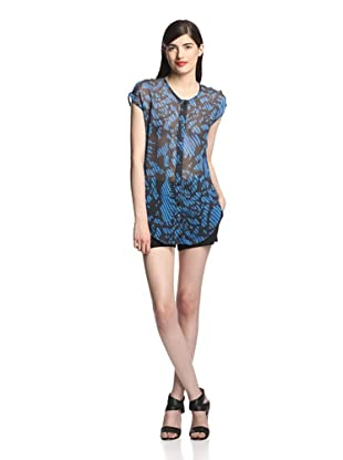 Surface to Air Women's Massa Shirt (Leaves Print Indigo)