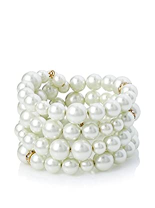Fragments Pearl Wrap Coil Bracelet