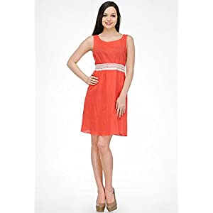 Peach Solid Dress