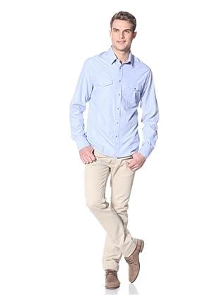 Dorsia Men's Joe Long Sleeve Button-Up Shirt (Arctic BLue)