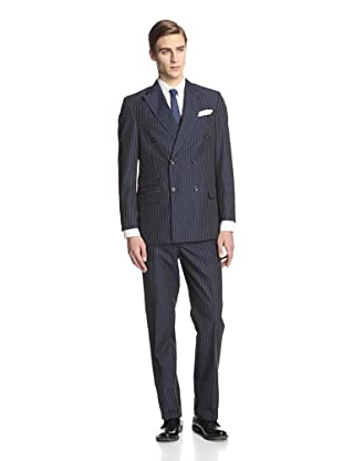 Kroon Men's Crosby Double Breasted Suit (Navy)
