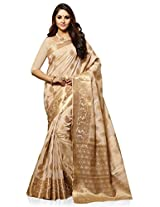 Meghdoot Artificial Tussar Silk Saree (SIYAA_MT1046_TASSAR Woven Beige Colour Sari)