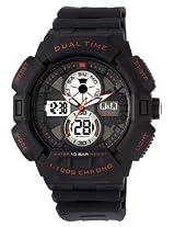 Q&Q Regular Analog-Digital Black Dial Men's Watch - GW81J002Y