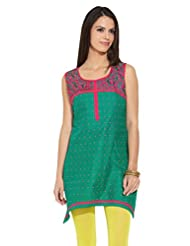 Lovely Lady Ladies Blend Straight Kurta - B00MMENB12