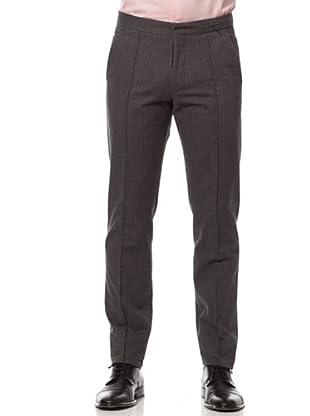 Caramelo Pantalón Vestir Rayas (gris)