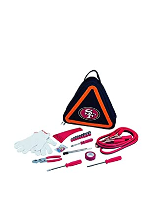 Picnic Time NFL San Francisco 49ers Roadside Vehicle Emergency Kit