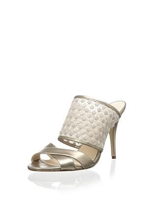 Delman Women's Evitt Slide Sandal (Nude)