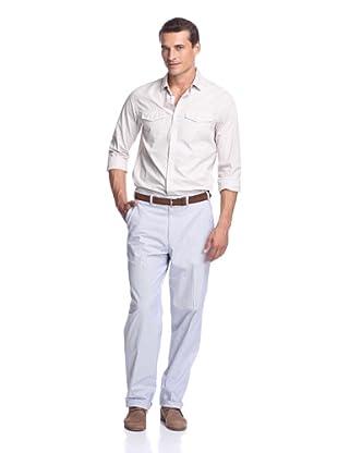Hiltl Men's Casual Pant (Blue Stripe)