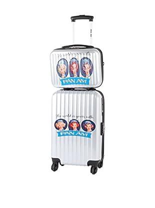 PANAM AIRLINES Set Hartschalen Trolley + Kulturbeutel