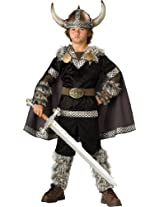 In Character Kids Norse Viking Warrior Boys Costume, Black/Silver, Medium