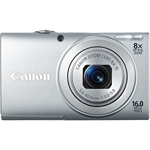 Canon PowerShot A4000 IS Point & Shoot Camear - Silver