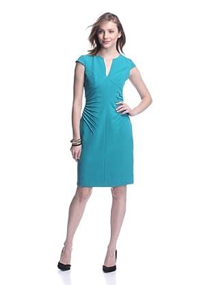 Adrianna Papell Women's Side Tucked Sheath Dress (Emerald)