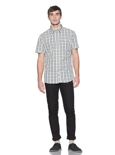 Farah Men's The Watts Slim-Fit Plaid Shirt (Pale Yellow)