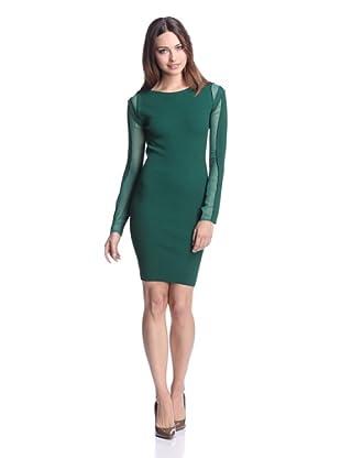 Stella & Jamie Women's Fabiola Ribbed Dress (Emerald Green)