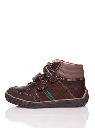 Pablosky Stiefel Streifen Prägung (Braun)