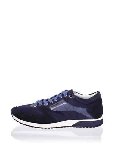 Antony Morato Men's Satin Sneaker (Blue)