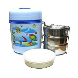 Saleshop365 4 Container Insulated Hot Lunch Pack Tiffin Box Home Picnic