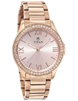 Titan Purple Analog Gold Dial Women's Watch - 9955WM01