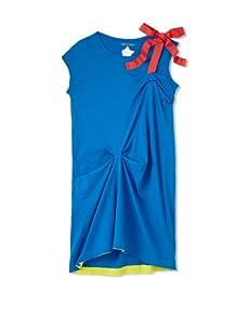 kicokids Girl's Asymmetric Jersey Dress (Surf)