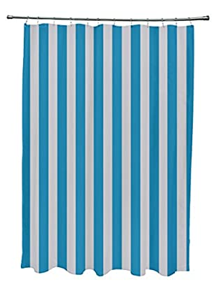 e by design Striped Shower Curtain, Aqua/Grey