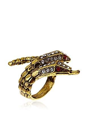 Amrita Singh Ring Crystal Two-Head Snake