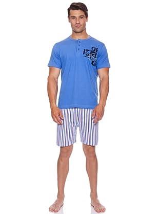 Basket Pijama Cro.Tapet.Bordado (Azul)