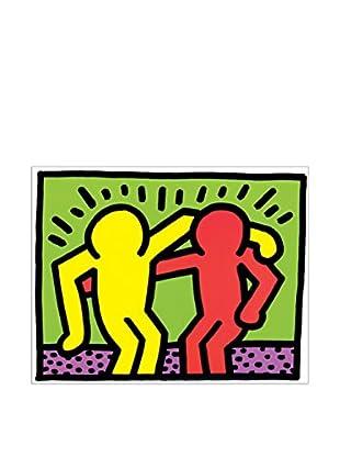 ArtopWeb Panel de Madera Haring Pop Shop I 19x25 cm