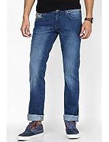 Blue Low Rise Regular Fit Jeans Wrangler