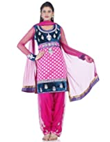 Chhabra555 Chanderi Pink Embroidery Readymade Suit DupattaKPFI4343-M