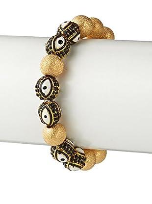 Gemelli Good Times Evil Eye Bracelet In Black