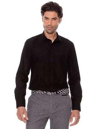 Pedro Del Hierro Camisa Clásica (Negro)