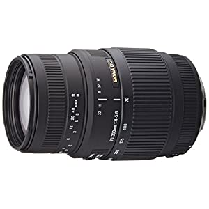 Sigma 70-300mm F/4-5.6 DG Macro Telephoto Zoom Lens for Canon DSLR Camera