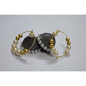 Quillings by SSE - Sliver Metallic Semi Jumka Earring