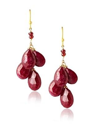 Wendy Mink Four-Stone Drop Earrings, Gold/Multi-Stones