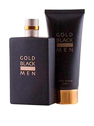 GOLD BLACK Eau De Toilette Uomo 2 pezzi Gold Black (Edt 100ml + After Shave 100 ml)