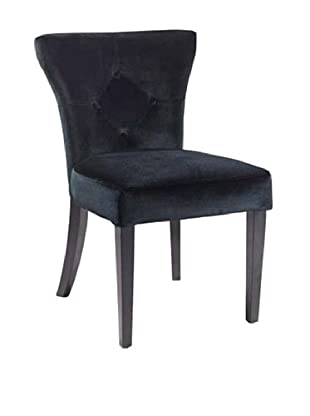 Armen Living Elise Side Chair, Black