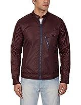 G-Star Men's Cotton Jacket (82616F-6931-1545_Large_Dark Fig)